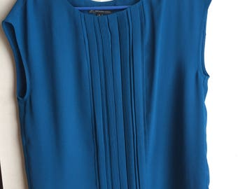 Adrianna Papell Blue Blouse