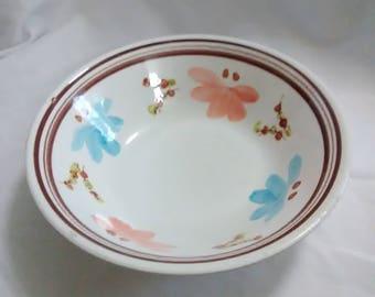 Vintage Korean flower bowl