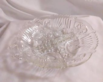 """Vintage 7.5"""" round divided relish tray"""