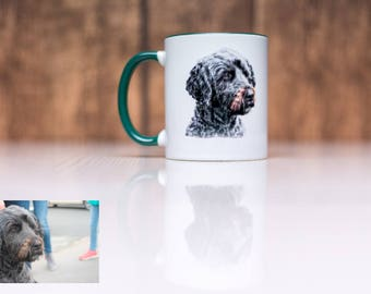 Individual mug for dog owners-your personal picture as a template-motif by arrangement