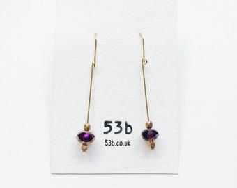 Czech crystal earring #215