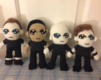 Full Band- Rise Against Chibi Plushie Collection (15% OFF!)