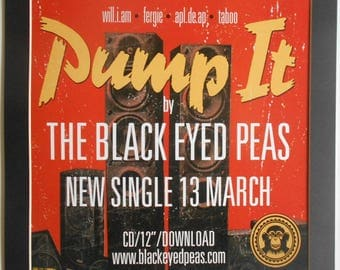 BLACK EYED PEAS Pump It Shop Display Poster In A Mount
