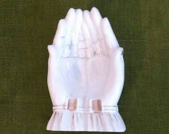 Vintage Ceramic Hand Holding Ashtray