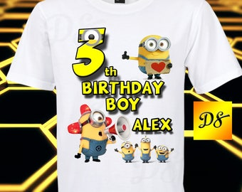 Minions Iron On Transfer, Minions Birthday Shirt Iron On Transfer, Minions Personalize Iron On, Digital File Only