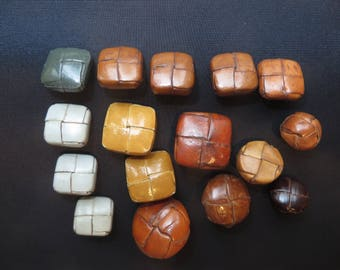 leather - set of 16 buttons