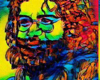 Jerry Garcia print various sizes