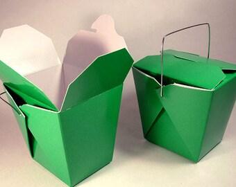 100 Green Favor Boxes Chinese Take Out Boxes Gift Favors Birthday Anniversary Bridal Wedding Shower Garden Theme Wholesale Superhero Hulk