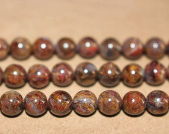 Natural Pietersite Round Beads 6mm 8mm 10mm 12mm Wholesale,loose beads,semi-precious stone,15 Inches Full strand,