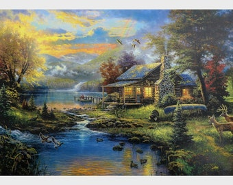 House Painting Print With Texture Coating Poster Without Frame (25 X 36 Inches)