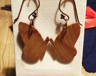 Butterflies Wooden Earrings