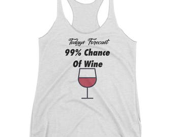 Todays Forecast Wine Women's Racerback Tank