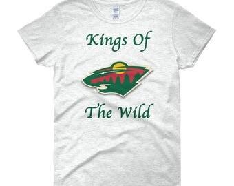 Minnesota Wild Hockey Kings Of The Wild Women's short sleeve t-shirt