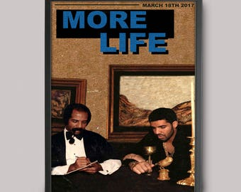 Drake More Life Custom Poster // High Quality // A3 Album Art // Wall Art Poster Design