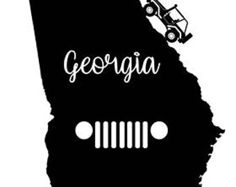 Any State Name and Jeep Decal