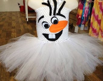Handmade snowman tutu dress, fancy dress costume, party costume for girls