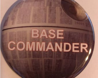 Base Commander 2.25 Inch Wearable Button