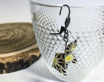 Origami rabbit earrings