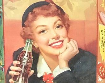 Vintage Coca Cola Metal serving Tray 1970s