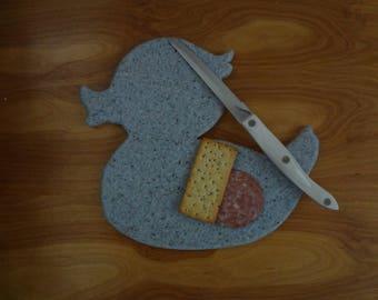 Rubber Duck Corian Cutting Board