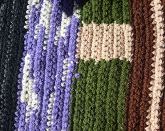 Large Crocheted Square Casserole Hot Pad - Tabletop Decor