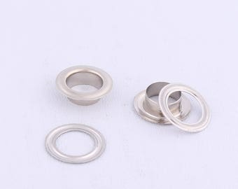 Silver eyelets iron eyelet eyelets grommets with washers shoes clothes decorative accessories