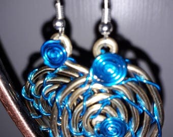 Earrings - aluminum wire