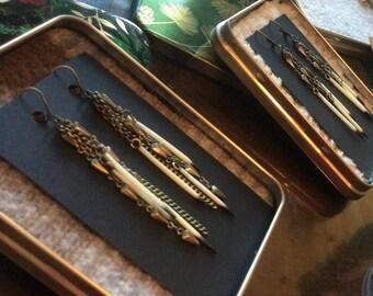 Brass & Quill Earrings