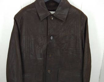 Vintage Artica Leather Jacket Made In Italy