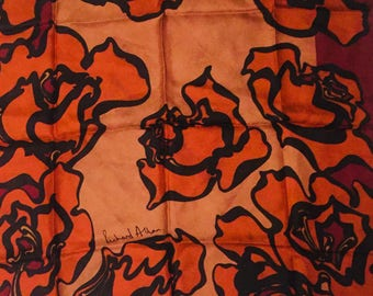Vintage Richard Allan Silk Scarf- Roses