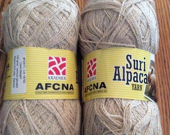 Suri alpaca yarn 60/40 suri/merino wool blend