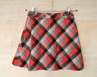 MoD 60s skirt/miniskirt checker/vintage skirt/vintage rock karo/mini/Bardot Rock