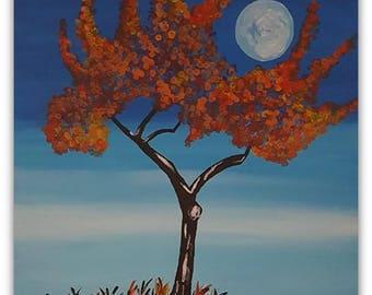 Fall Tree | Evening Sky