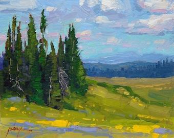 "Summer Breeze 8x10"" Plein Air Oil Painting"