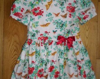 Handmade 100% cotton girls dress Age 3-4