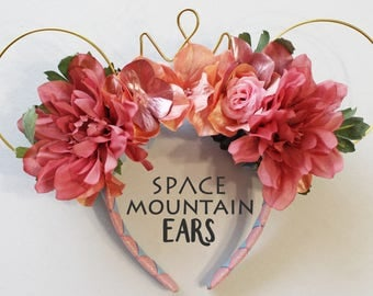 Sleeping Beauty - Aurora Inspired Reversible Floral Wire Mickey Ears