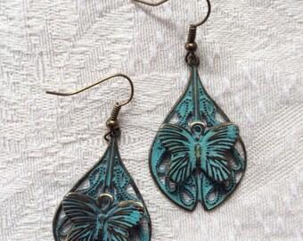 Chandelier Earrings Everyday Earrings Drop Earrings Green Earrings Butterfly Earrings