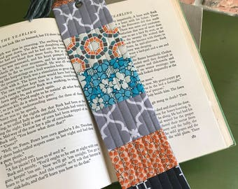 Handmade quilted bookmark