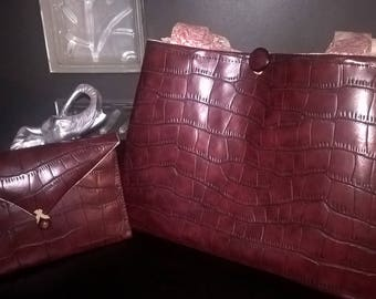 Faux leather Burgundy bag