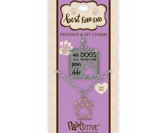 Best Furr-End Pendant and Charm Set - With Dogs All Things Are Pawsible