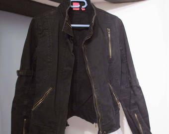 Black Mango cotton jacket type John T 36 38 (eur)
