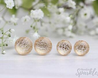 Beige and Gold Stud Earrings, Minimalist Earrings, Simple Earrings Beige, Ivory Stud Earrings,  Dainty Earrings, Wedding gift earrings
