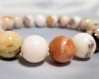 All-natural Pink Opal bracelet - rare and stunning - FREE gift box and card