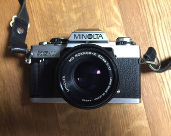 Minolta XG-M with 50mm f/1.7 Rokkor Lens