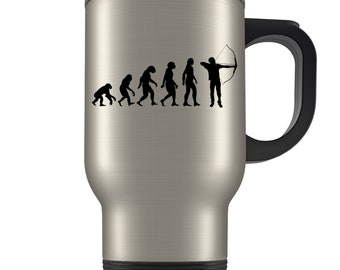 Archery Travel Mug, archery gift, archery gift idea, archery gift for men, gift for archery, archer gift, archer travel mug, bow and arrow