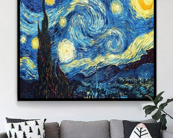 New DIY 5D Full Diamond Painting Embroidery Van Gogh Star Cross Stitch Kit Oil Painting Abstract Home Commercial Resin Decoration