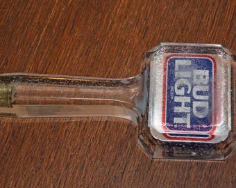 Tap Handle for Bud Light Beer – 7 1/2 Inch Acrylic 2-sided
