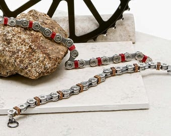 Bicycle Chain Color Wrapped Bracelets