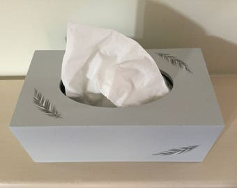 Feather design Rectangular Tissue Box Cover