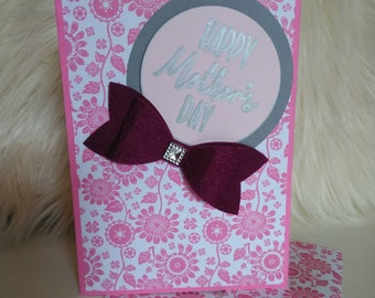 """Happy Mother's Day Greeting card Handmade 5x7"""""""